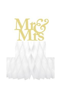 """Wabenball """"Mr & Mrs"""" aus Papier, schwer entflammbar, 24cm, 1 Stk."""