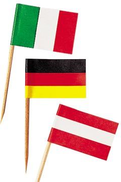 """Fahnenpicker """"Gemischt"""", 6.8cm, 500 Stk."""