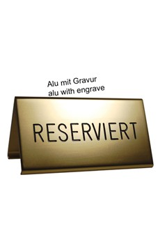 """Tischaufsteller """"Reserviert"""", gold, 10x5cm, 1 Stk."""