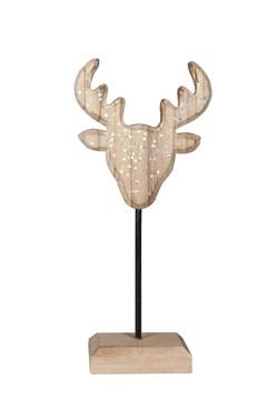 Hirschkopf aus Holz 25 cm, 1 Stk.