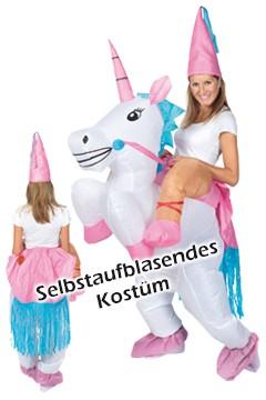 """Kostüm """"Einhorn"""", aufblasbar, für Erwachsene, 1 Stk."""