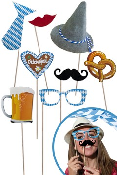 "Party Props Set ""Oktoberfest"", 8 Stk."