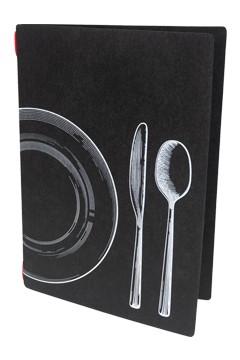 "Speisekarte ""ECO DISH SET"" schwarz, A4, 1 Stk."