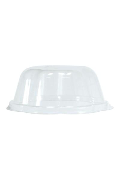 BIO Deckel für Eisbecher aus PLA, 300ml, transparent, 50 Stk.