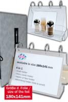 """Tischaufsteller """"4in1"""" aus Acrylglas, 18x14.1cm, 1 Stk."""