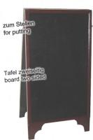 Gehweg-Kreidetafel, 2-seitig, 40x80cm, 1 Stk.