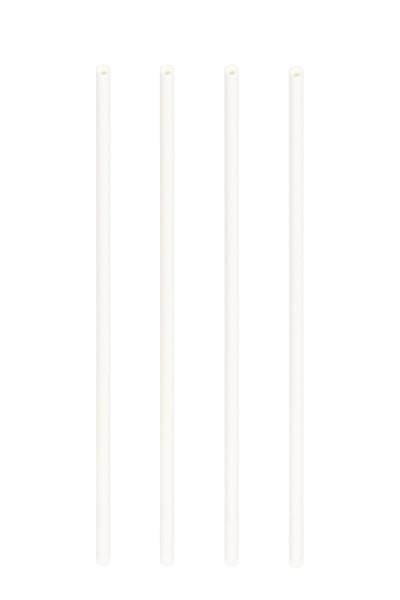 Trinkhalme aus Papier, weiß, Ø6mm, 21cm, 100 Stk.
