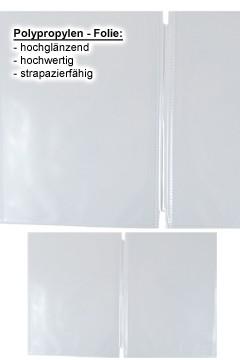 Ersatzfolien (PP) transparent, doppelseitig, A4, 10 Stk.