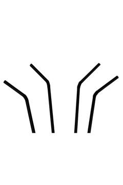 Trinkhalme, flexibel, schwarz, Ø5mm, 24cm, 250 Stk.