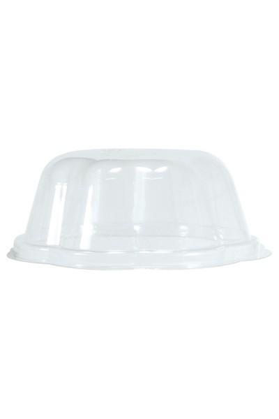 BIO Deckel für Eisbecher aus PLA, 130ml, transparent, 50 Stk.
