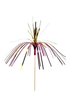 Glitzerpalmen 2-färbig, 24cm, 144 Stk.