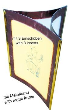 Tischkartenständer weinrot A5 1 Stk.