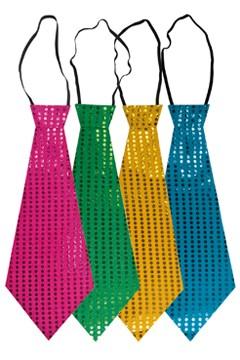 Glitzer-Krawatte, versch. Farben, 42cm, 1 Stk.