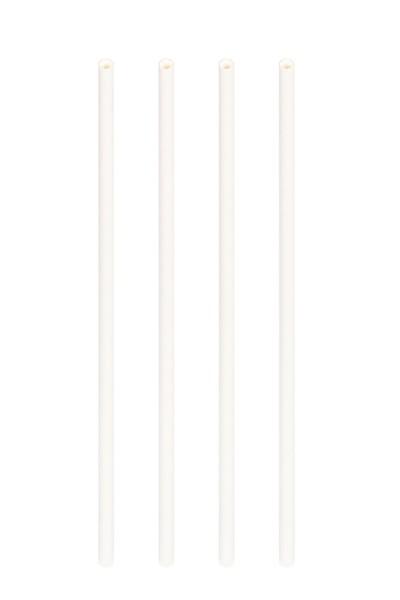 Trinkhalme aus Papier, dick, weiß, Ø8mm, 25cm, 150 Stk.