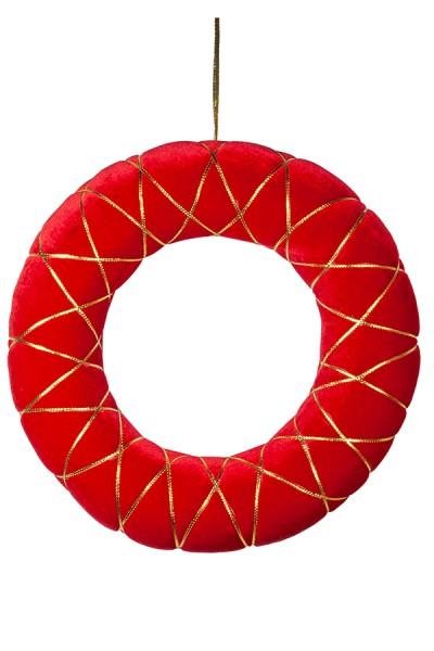 Kranz aus Samt, rot, 40 cm