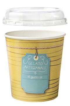 Eiscontainer mit Deckel, 1000ml, 25 Stk.