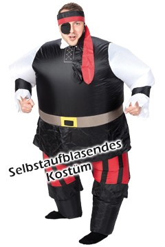 """Kostüm """"Pirat"""", aufblasbar, für Erwachsene, 1 Stk."""