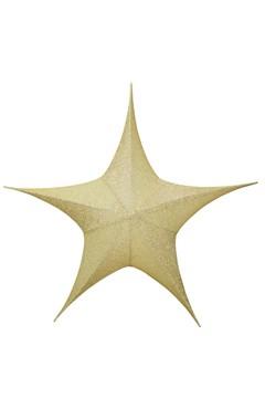 Stern aus Stoff, golden, faltbar, Ø 40 cm, 1 Stk.