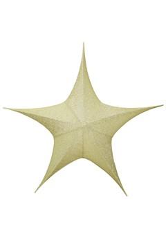 Stern aus Stoff, golden, faltbar, Ø 80 cm, 1 Stk.
