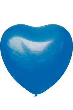 "Luftballons ""Herz"", blau, Ø36cm, 50 Stk."