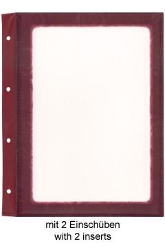 Folienblätter, weinrot, A5, 10 Stk.