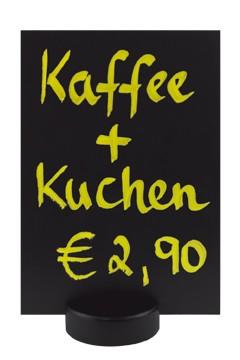 Tisch-Kreidetafel, schwarz, 15x21cm, 2 Stk.