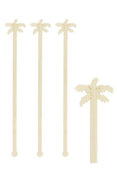 "Rührstab ""Palme"" aus Bambus, 17.5cm, 100 Stk."