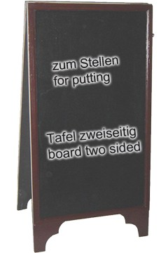 Gehweg-Kreidetafel, 2-seitig, 50x100cm, 1 Stk.