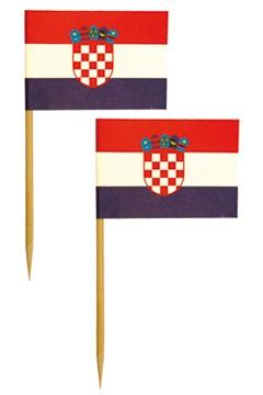 """Fahnenpicker """"Kroatien"""" 6.8cm, 500 Stk."""