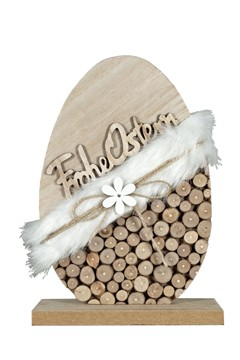 """Osterei """"Frohe Ostern"""" aus Holz, 23 cm, 1 Stk."""