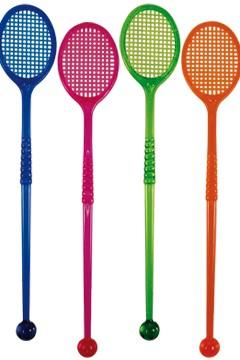 "Rührstab ""Tennisschläger"", bunt, 16cm, 100 Stk."
