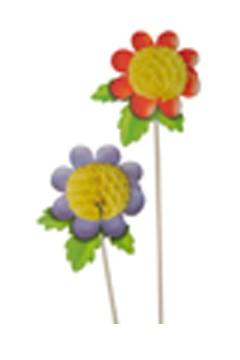 """Deko-Picker """"Blumen"""", 18.5cm, 100 Stk."""