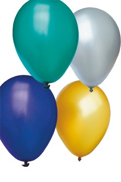 "Luftballons ""Perlmutt"", bunt, Ø30cm, 50 Stk."