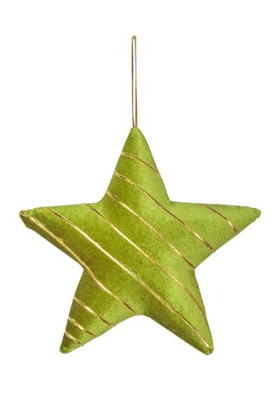 Stern aus Samt, grün, 28 cm