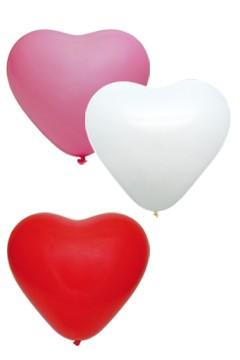 "Luftballons ""Herz"", bunt, Ø36cm, 50 Stk."