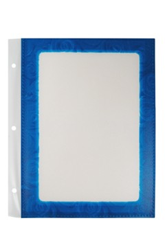 Folienblätter, blau, A5, 10 Stk.