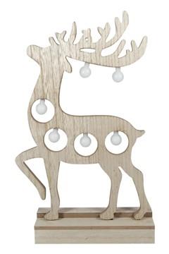 Hirsch aus Holz mit LED Licht 37.5 cm, 1 Stk.