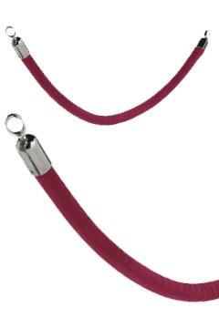 Seil rot mit verchromten Enden, 150cm