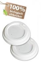 BIO Deckel für 200ml Becher, CPLA, Ø8cm, 50 Stk.