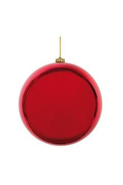 Weihnachtskugel XL aus Kunststoff, rot, Ø20cm, 1 Stk.