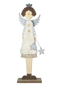 Engel aus Holz 58 cm, 1 Stk.