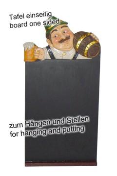 Gehweg-Kreidetafel ''Bayer'', 30x62cm, 1 Stk.