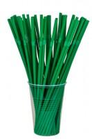 BIO Trinkhalme aus PLA, flexibel, dunkelgrün, Ø5mm, 24cm, 500 Stk.