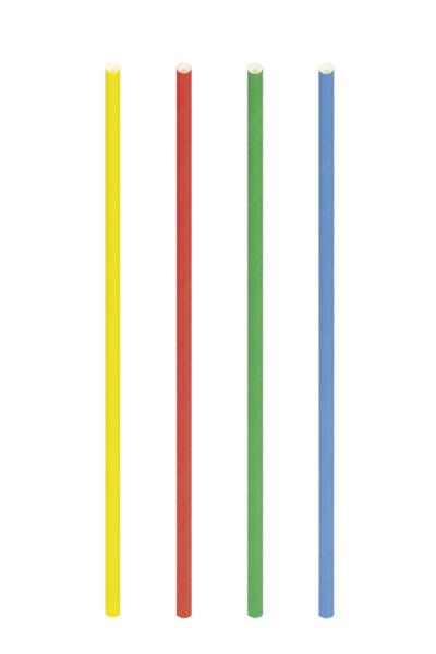 Trinkhalme aus Papier, bunt, Ø6mm, 21cm, 100 Stk.