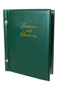 """Speisekarte (PVC) """"Speisen und Getränke"""" dunkelgrün, 8 Seiten, A5, 1 Stk."""