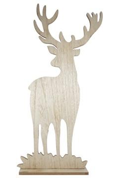 Hirsch aus Holz 80 cm, 1 Stk.