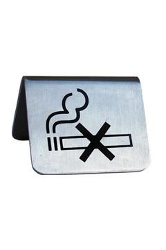 """Tischaufsteller """"Rauchen verboten"""" aus Edelstahl, 5.2x3.5cm, 1 Stk."""