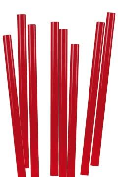 Trinkhalme, dick, rot, Ø8mm, 25cm, 135 Stk.