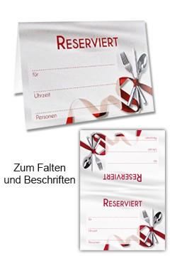 """Tischaufsteller """"Reserviert"""" aus Papier, 10.5x15cm, 25 Stk."""