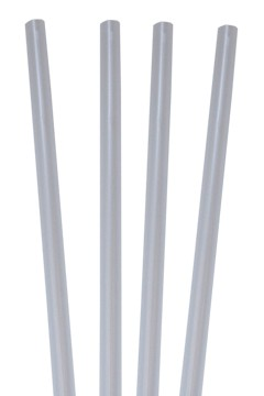 Trinkhalme, dick, transparent, Ø8mm, 25cm, 135 Stk.